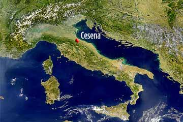 cesena Italy position