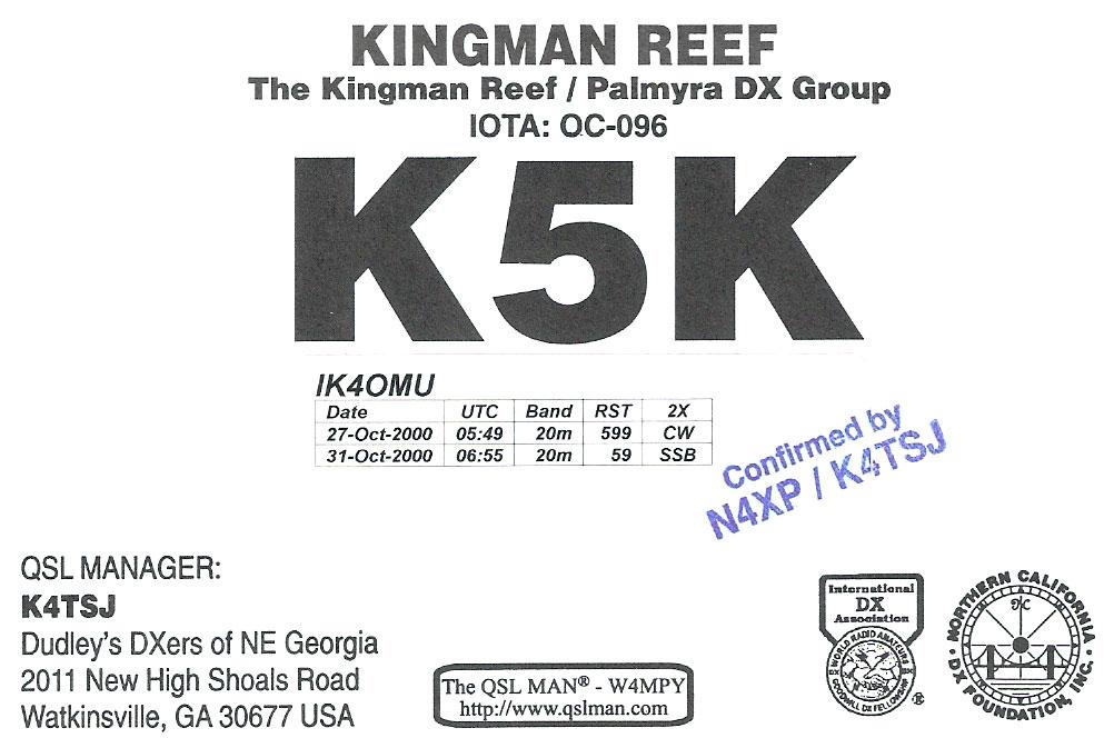 k5k qsl card